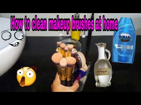HOW TO CLEAN MAKEUP BRUSHES USING VINEGAR