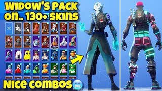 "NEW MARVEL ""WIDOW'S PACK"" BACK BLING Showcased With 130+ SKINS! Fortnite Battle Royale NEW AVENGERS"