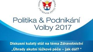 Politika & Podnikání | Volby 2017: Úhrady akutní lůžkové péče – jak dál?