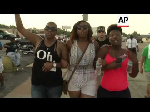 Tensions remained high in Ferguson, Missouri after Gov. Jay Nixon announced National Guard troops we