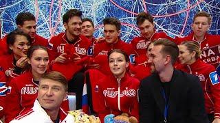 А Щербакова для Первого канала сняла как наши фигуристы готовятся к командному первенству планеты