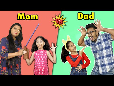 Mom Vs Dad In Real Life Funny Video   Pari's Lifestyle