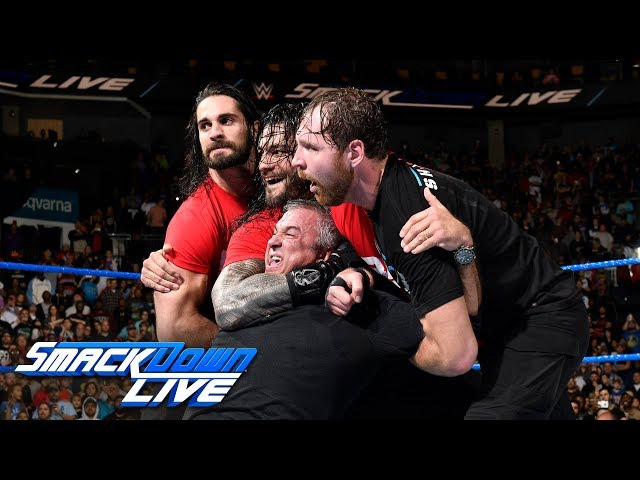 Kurt Angle & The Shield lead a Raw raid of SmackDown: SmackDown LIVE, Nov. 14, 2017