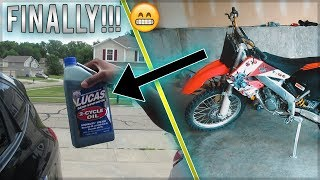 How To Change Gear Oil on a 2 Stroke | Honda CR250R / Dirt