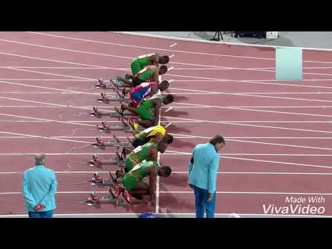 Mens 100m final : GOLDCOAST COMMONWEALTH GAMES 2018