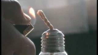 как сделать свечку из лампочки.
