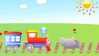 Детские Песни - Паровоз по рельсам мчится на пути котёнок спит...  | Part  13
