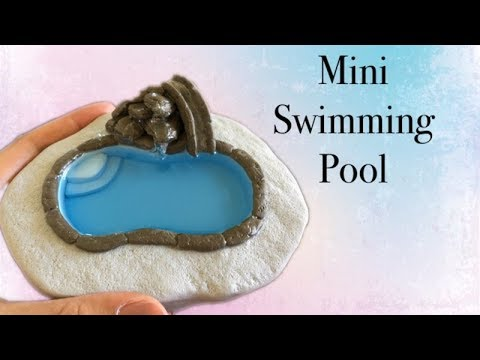 DIY Miniature swimming pool with polymer clay and resin - Tutorial