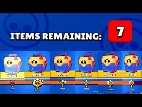 Opening All Mega Box At TROPHY ROAD - Brawl Stars