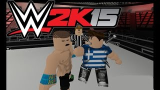 ROBLOX WWE RAW 2k15 - WORLD HEAVYWEIGHT CHAMPIONSHIP MATCH! *MAIN EVENT* *LIVE COMMENTARY*