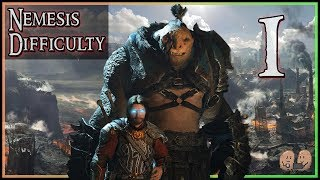 SHADOW OF WAR   Nemesis Difficulty (Hard Mode)   Full Story Playthrough - Part 1