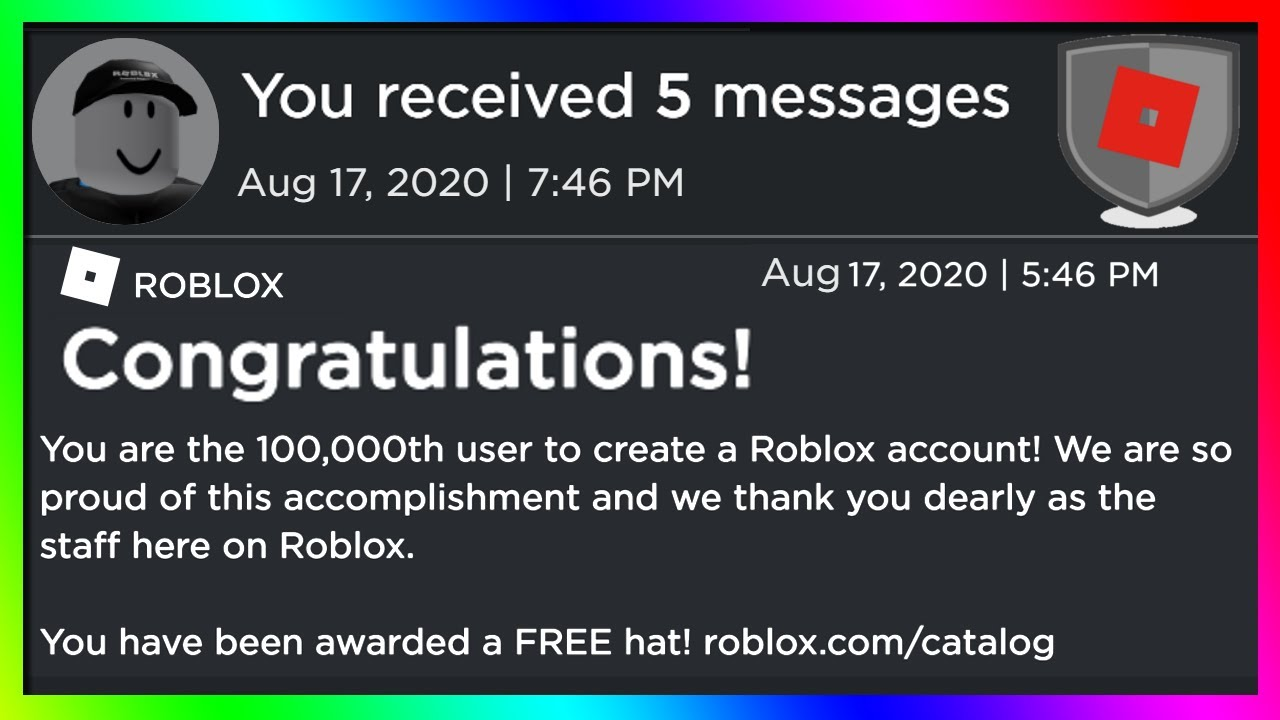 Roblox Create Account Free Why Roblox Gave This Guy A Free Item For Making An Account Youtube