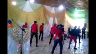 Flashy(In White Jeans) in HighSchool miming to Davido's Gobe 2013