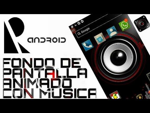 Fondo de pantalla animado con música para Android