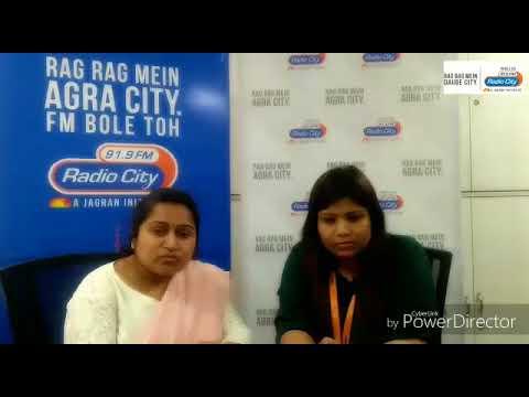 RJ Pratibha with ARTO Vandana - Traffic safety Awareness Agra