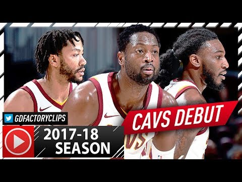 Dwyane Wade, Derrick Rose & Jae Crowder Full Highlights vs Hawks (2017.10.04) - Cavaliers Debut!