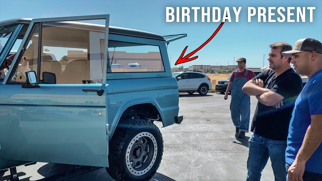 Getting Surprised with a Brand New Ford Bronco for his Birthday
