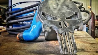 TIG Welding Punisher Trailer Hitch Cover with Miller Syncrowave 210