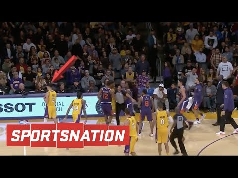 SportsNation reacts to Lonzo Ball walking away from fight | SportsNation | ESPN