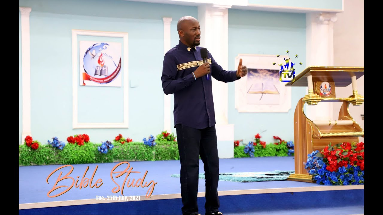 Download THE 8 LAWS OF GREATNESS By Apostle Johnson Suleman (Bible Study - Tue. July 27, 2021)