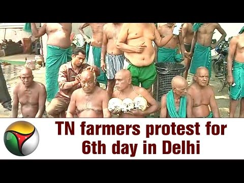 Tamil Nadu farmers protest for 6th day in Delhi | Details