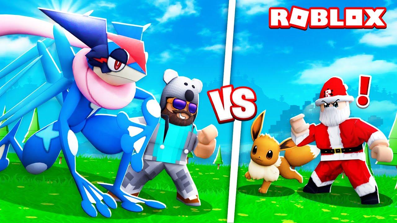 Ash Greninja Battling Santa Pokemon Brick Bronze 27