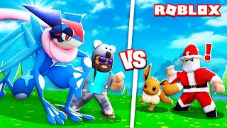 ASH-GRENINJA + BATTLING SANTA!!!! | Pokémon Brick Bronze [#27] | ROBLOX