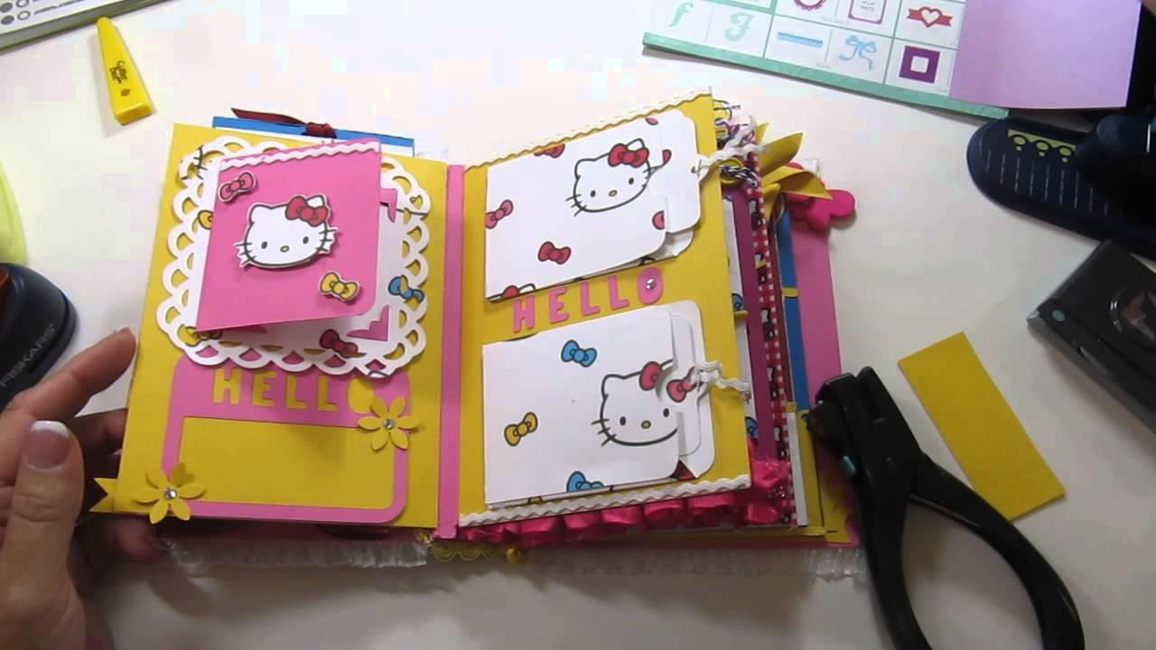 Hello kitty scrapbook ideas - Envelope Mini Album Hello Kitty
