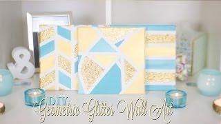 Diy Geometric Glitter Canvas Wall Art | Nekkoart