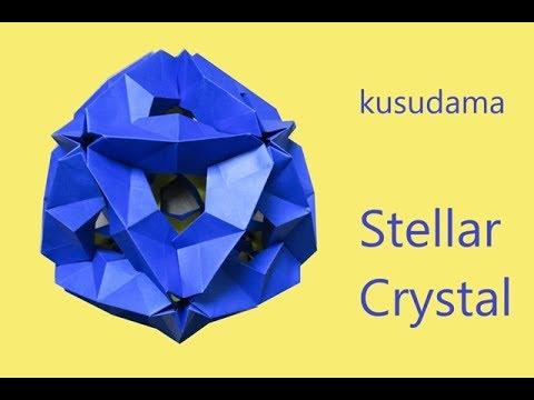 kusudama stellar crystal - tutorial - dutchpapergirl