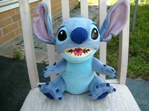 Aloha Stitch Talking Plush Toy Youtube