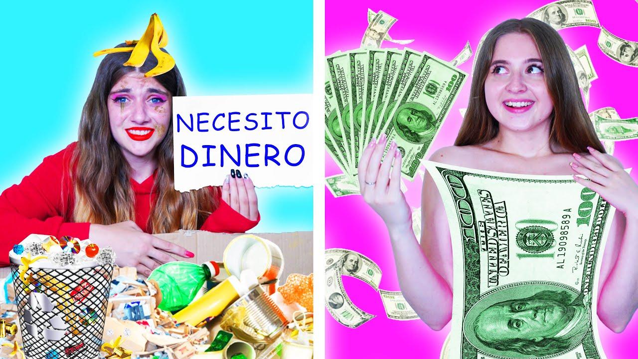 Chica Rica Desafortunada vs. Chica Pobre Afortunada || Situaciones Divertidas