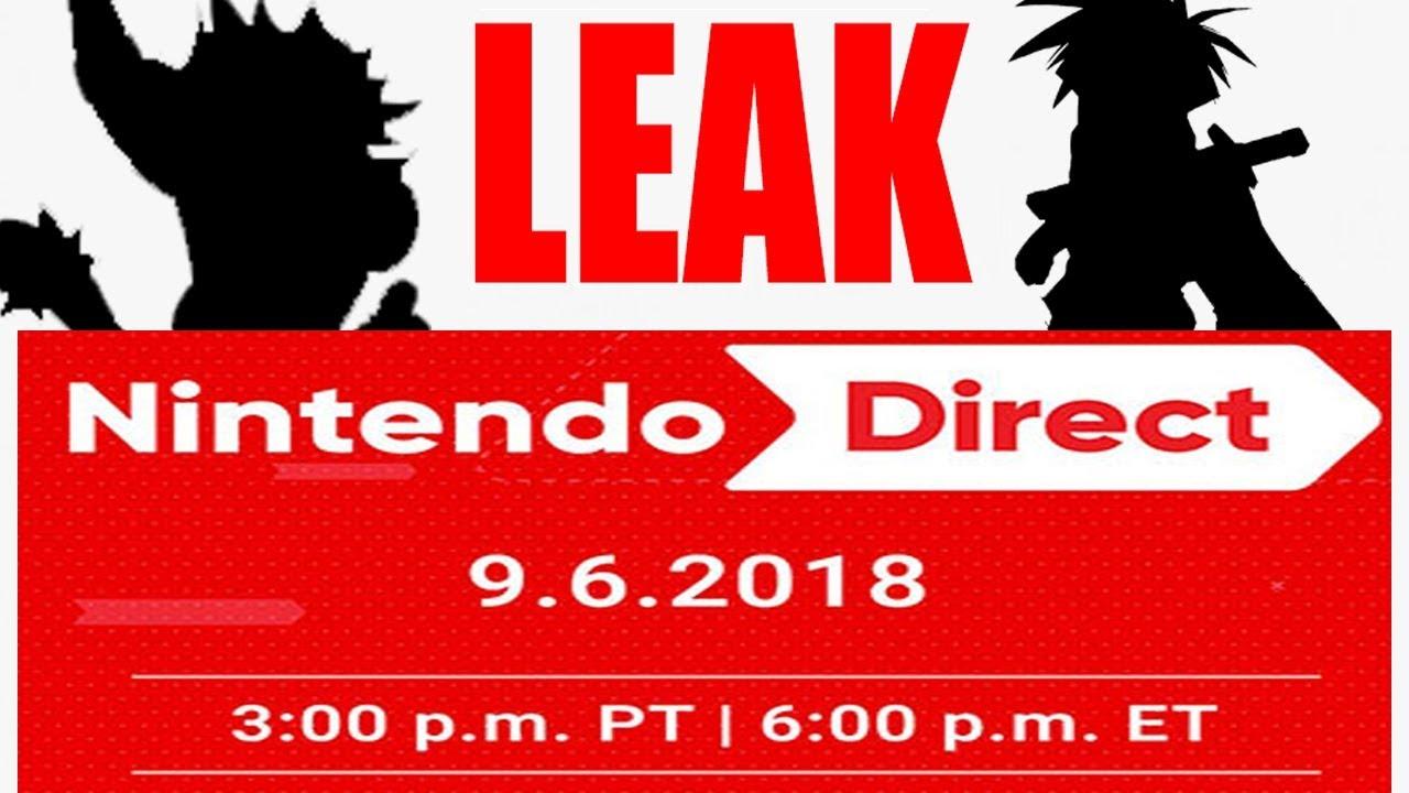 September 6, Nintendo Direct LEAK
