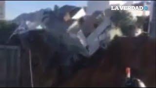 Derrumbe en Monterrey deja al menos 10 personas atrapadas