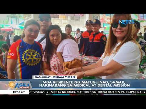 Mga residente ng Matuguinao, Samar, nakinabang sa medical at dental mission