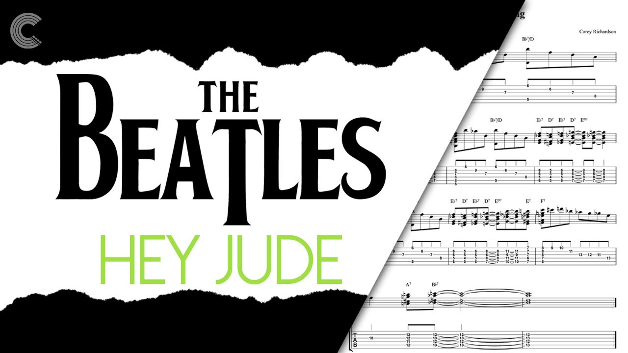 Guitar hey jude the beatles sheet music chords vocals youtube