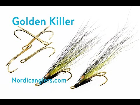 Fly Tying Instruction On How To Tie The Golden Killer Salmon Fly