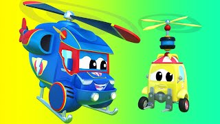 Truck cartoons for kids -  Super HELICOPTER searches for MISSING FORKLIFT TRUCK - Super Truck !