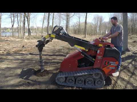 Compact Skid Steer Post Hole Drilling | Ward's Equipment Rental