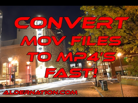Change an MOV file to an mp4 the Fastest possible way!!!