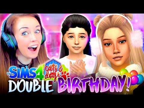 DOUBLE BIRTHDAY CUTENESS! 😍🎈 (The Sims 4 CATS & DOGS #40 🏖)