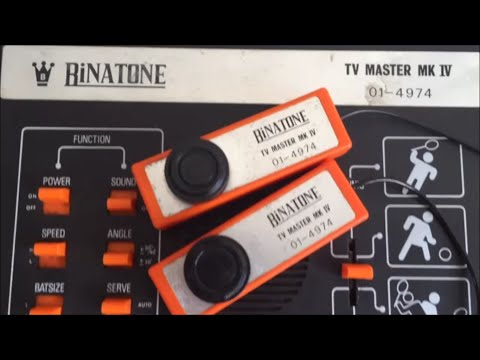 Pong Retro Gaming 1977 -  Binatone TV Master IV Cheat Demo - Football, Squash And Tennis