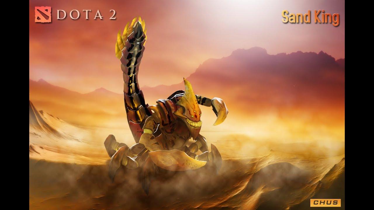 dota 2 sandking gameplay long range stun youtube