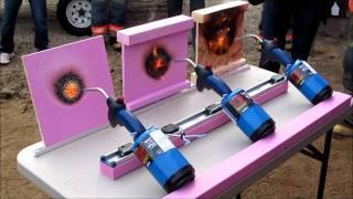 Pink wood fire resistance demonstration, Jan. 9, 2012