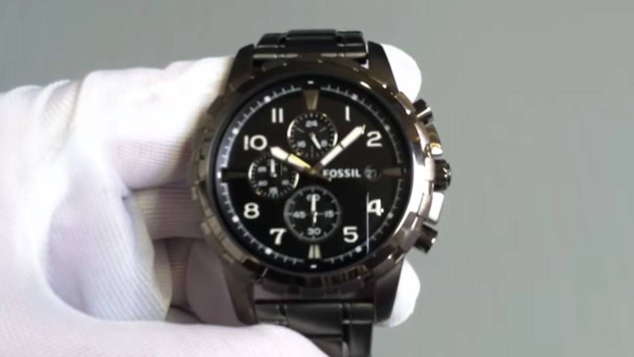888618687d3 Men s Fossil Dean Chronograph Stainless Steel Watch FS4721 - YouTube