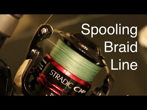 How to Spool Braided Line on a Spinning Reel Without Line Twists or Loops