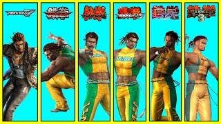 تيكن : جميع نهايات إيدي غوردو ( تكن 3 - تكن 7 ) | (Tekken: All Eddy Gordo Endings (TK3 - TK7