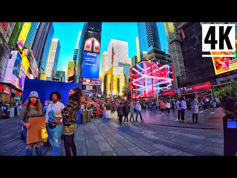 ⁴ᴷ⁶⁰ Midtown Manhattan New York City Walking Tour 2020 | Times Square To West 48th Street NYC