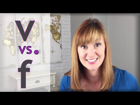 How to Say V and F | Pronounce V and F in English | American Accent Lesson