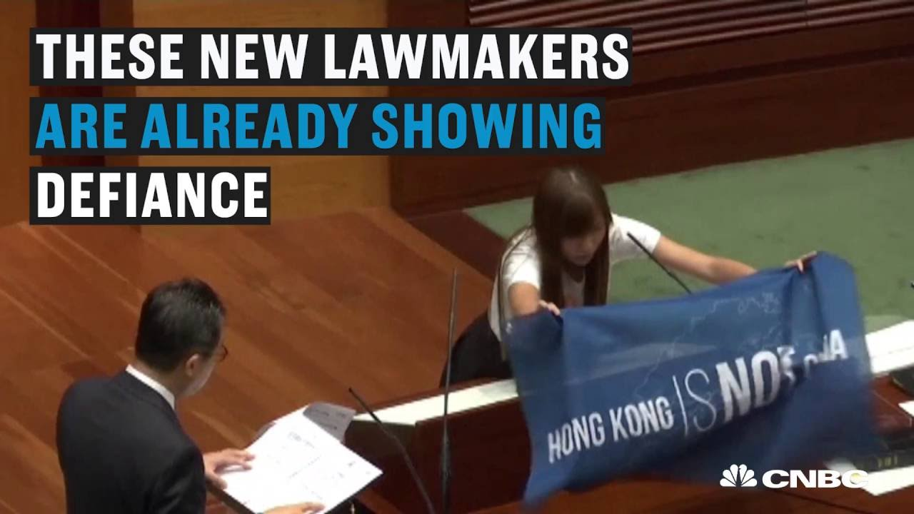 Defiance over China's power in Hong Kong